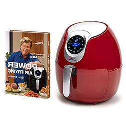 Power Air Fryer XL 5.3 Qt Deluxe with Power Air Frying Hardc