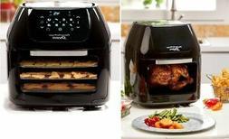 Power Air Fryer Oven Rotisserie Dehydrator 3 Air Flow Racks
