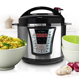 NutriChef Pressure Cooker Rice Cooker, Multi Function Food P