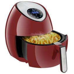 RED 1500W Deep Air Fryer Home Appliance 3.7Qt Kitchen Fast H