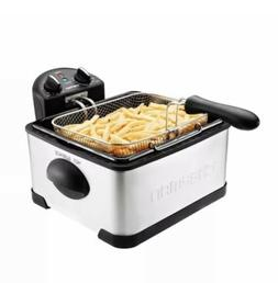 Chefman RJ07-4DSS-T Deep Fryer, 4 L, Stainless Steel