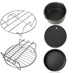 elegantstunning 5pcs/Set Air Fryer Accessories Value Match f