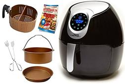 Power Air Fryer XL 5.3 QT Black Deluxe - Turbo Cyclonic Airf