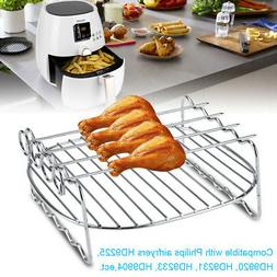 Stainless steel BBQ Rack Double Layer Skewer Baking Tray For