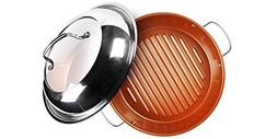 """NuWave 31124 Stainless Steel, 11"""", Silver Ceramic BBQ Grill"""