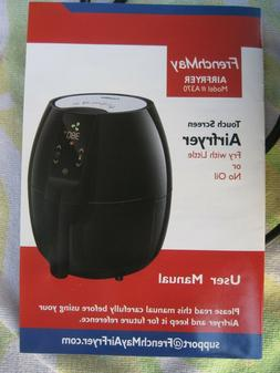 FrenchMay Touch Control Air Fryer, 3.7Qt 1500W, Comes with R