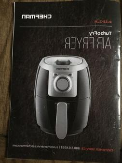 Chefman TurboFry 2L Quart Air Fryer - Black New Without Box.