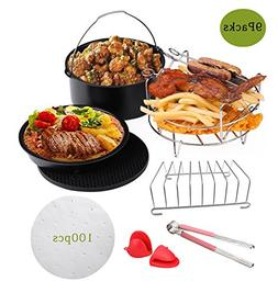 Befound Upgrade Air Fryer Accessories Kit, Fit for 2 Person