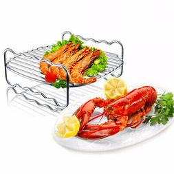 US Stainless Steel Replacement Rack Double Layer Baking Tray