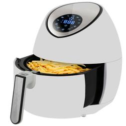 White 1500W Deep Air Fryer Home 3.7Qt Appliance Kitchen Fast
