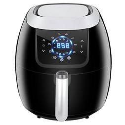 SUPER DEAL XXL Air Fryer Family Size 5.8 Qt. 8-in-1 Touch Sc